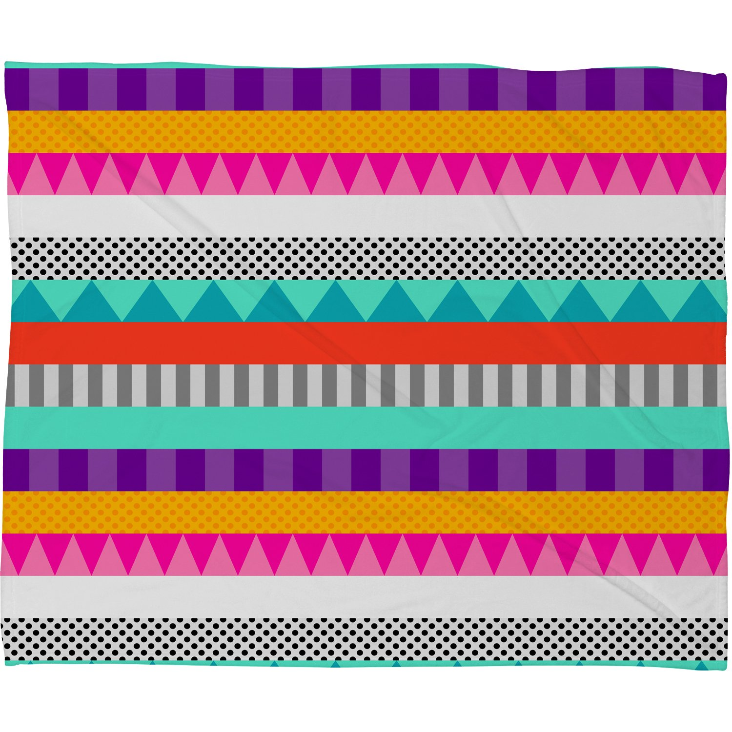 Deny Designs Elisabeth Fredriksson Happy Stripes 2 Fleece Throw Blanket 60 x 80
