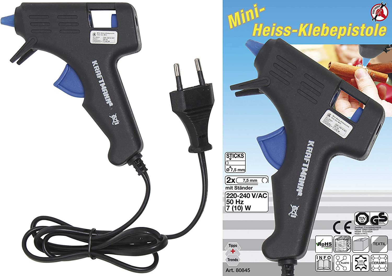 20 Watt Mini Hei/ßklebepistole f/ür DIY kleine Handwerkprojekte und schnelle Reparaturen zuhause im Heimwerker /& Handwerk