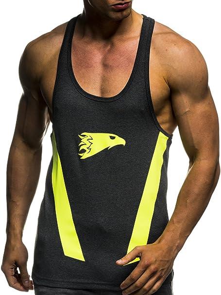 LEIF NELSON Aptitud Camiseta Gym Los Hombres de Camisa del Entrenamiento Entrenamiento LN06286: Amazon.es: Ropa y accesorios