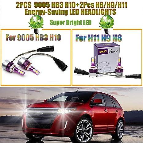 H11 y 9005 4pcs bombilla LED Combo coches faros delanteros de Hi Lo haz bombillas para