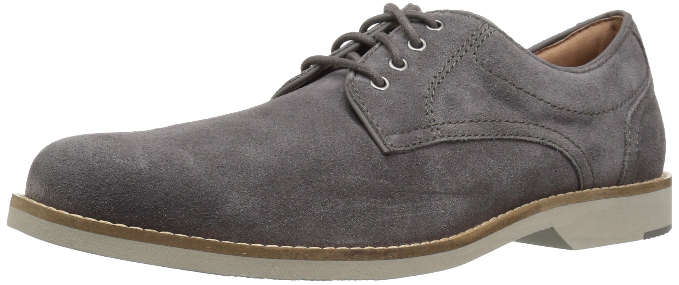 206 Collective Men's Barnes Suede Casual Oxford, Gray Suede, 10.5 D US by 206 Collective