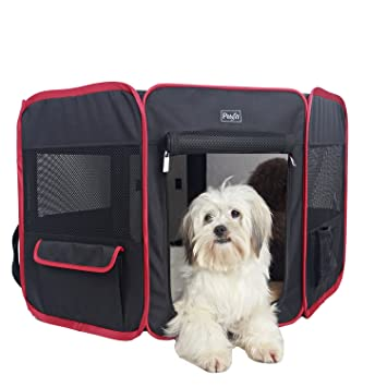 Petsfit 29u0026quot;Dia X 17Hu0026quot; Zipper Sealed Bottom Portable Foldable Pop  Up Dog Playpen