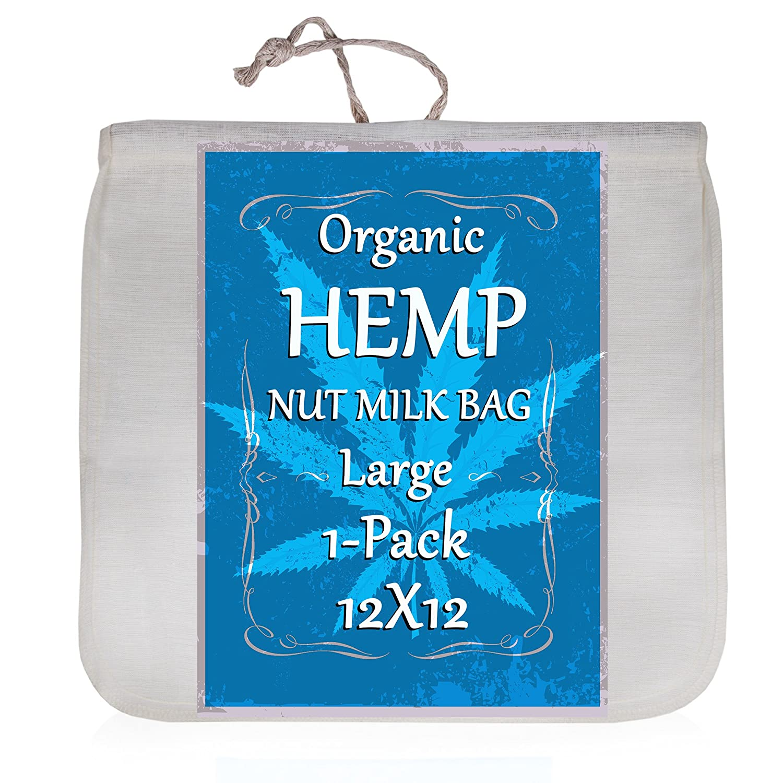 Amazon.com: Organic Hemp Nut Milk Bag - Extra Large 12\