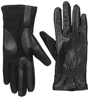 e741b624c0d Image Unavailable. Image not available for. Color  Isotoner Women s Classic  Stretch Leather Touchscreen Cold Weather Gloves
