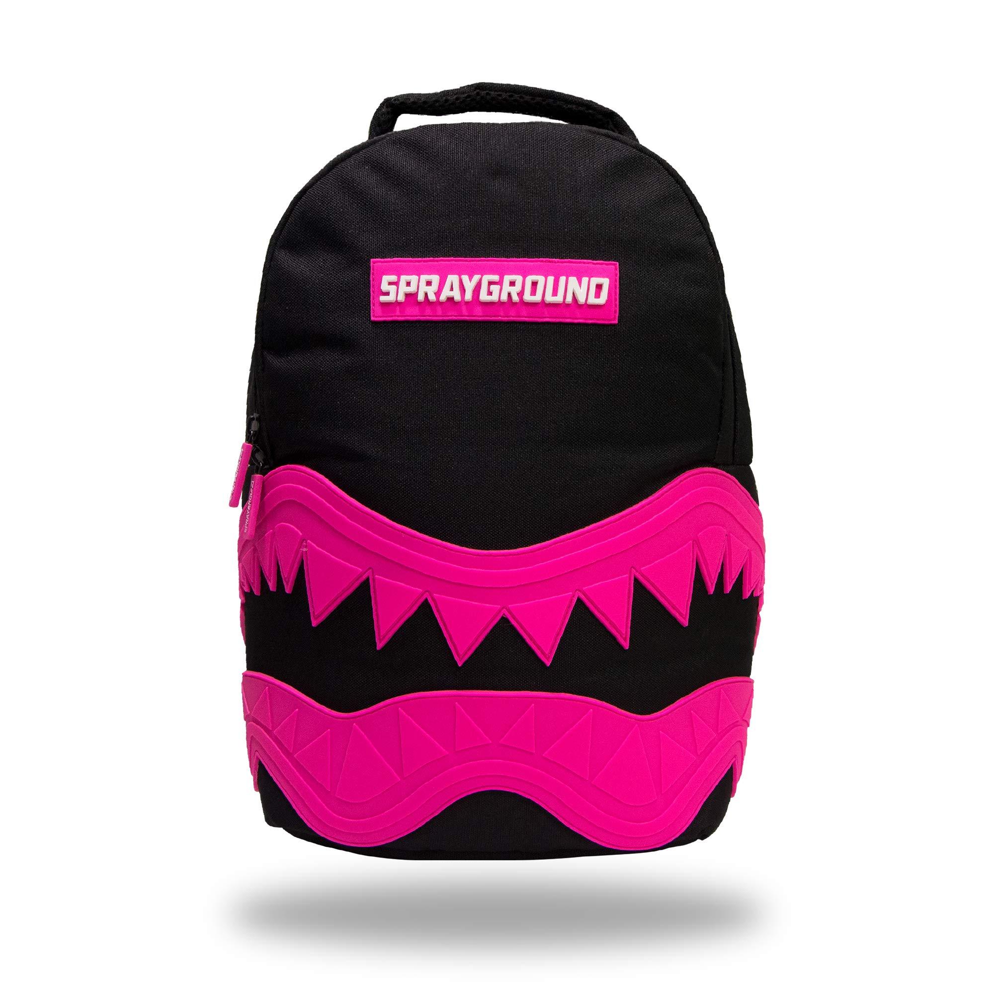 Sprayground shark rubber backpack DELUXE (black-pink) by Sprayground-