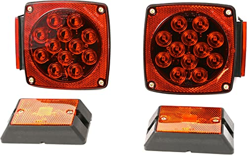 Red Submersible Boat Trailer Lights Kit [MaxxHaul] Picture