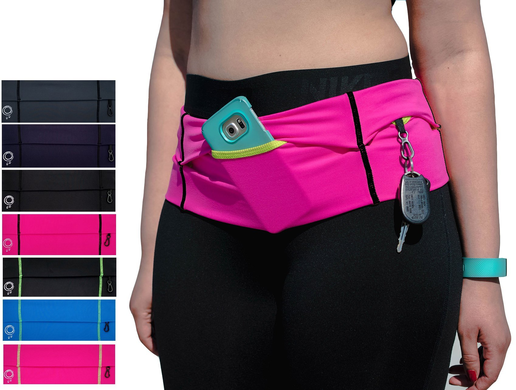 Stay Fit Running Belt. Made to Meet The demanding Needs of The serious Long Distance Runner! Made for Women! Made in USA! (Gray/Black, X-Small)