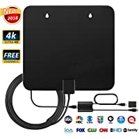 Sotek 50-80 Miles Long Range Indoor HDTV Antenna with Detachable Amplifier and 10FT High Performance Coax Cable