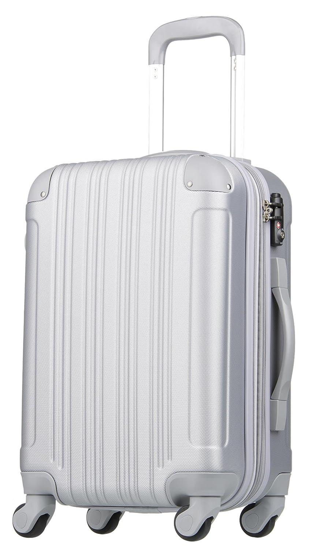 【レジェンドウォーカー】LEGEND WALKER スーツケース 容量拡張 TSAロック 超軽量 マット加工 ファスナー開閉 5082 B0797QLH8M Lサイズ(7泊以上/88(拡張時102)リットル)|シルバー シルバー Lサイズ(7泊以上/88(拡張時102)リットル)