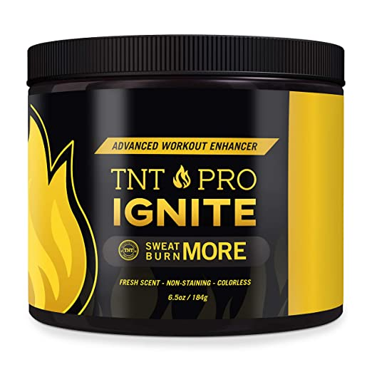 Fat Burning Cream for Belly – TNT Pro Ignite Sweat Cream for Women and Men – Thermogenic Weight Loss Workout Slimming Workout Enhancer (6.5 oz Jar)