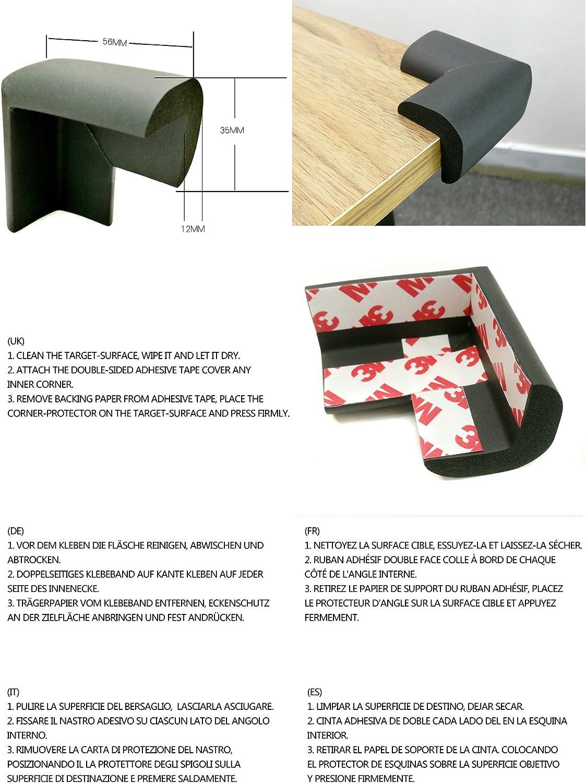 TUKA 5 Meter L-Form Kantenschutz Verdicken Schwamm Sto/ßschutz Braun TKD7000 Brown