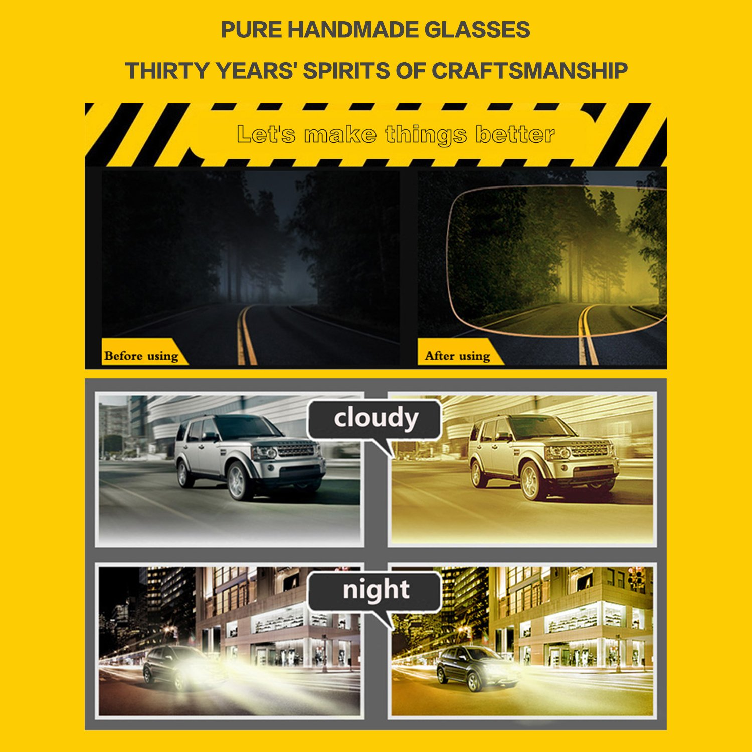 SOXICK 2018 New Style Night Driving Glasses - Anti-glare HD Vision - Safety Night Vision glasses for Men and Women (3) by SOXICK (Image #7)