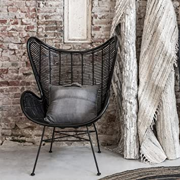 Entzuckend HKliving Rattan Egg Chair In Schwarz