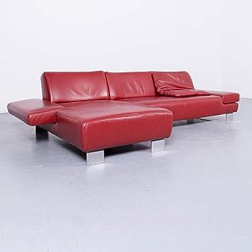 Willi Schillig Taboo Designer Leder Sofa Rot Echtleder Ecksofa Couch 6571 SANAA Amazoncouk Kitchen Home