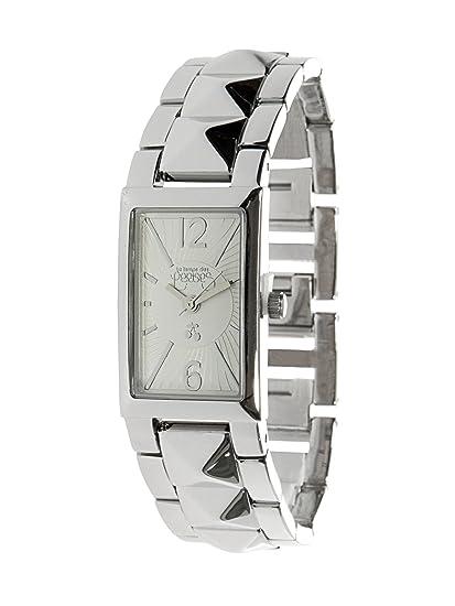 Le Temps des Cerises TC30SRM - Reloj digital para mujer de metal plateado: Amazon.es: Relojes