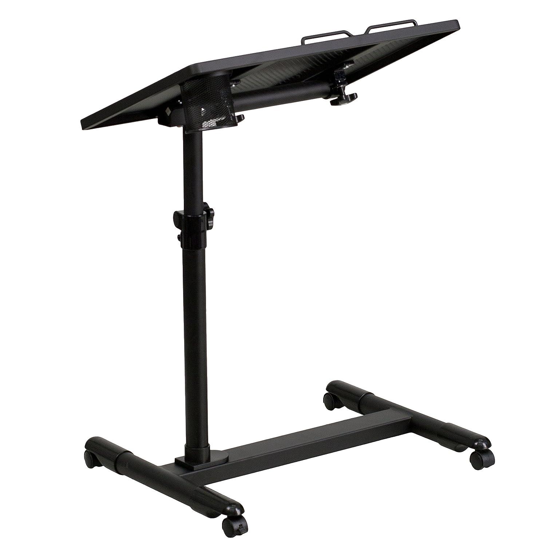 Beautiful Amazon.com: Flash Furniture Black Adjustable Height Steel Mobile Computer  Desk: Kitchen U0026 Dining
