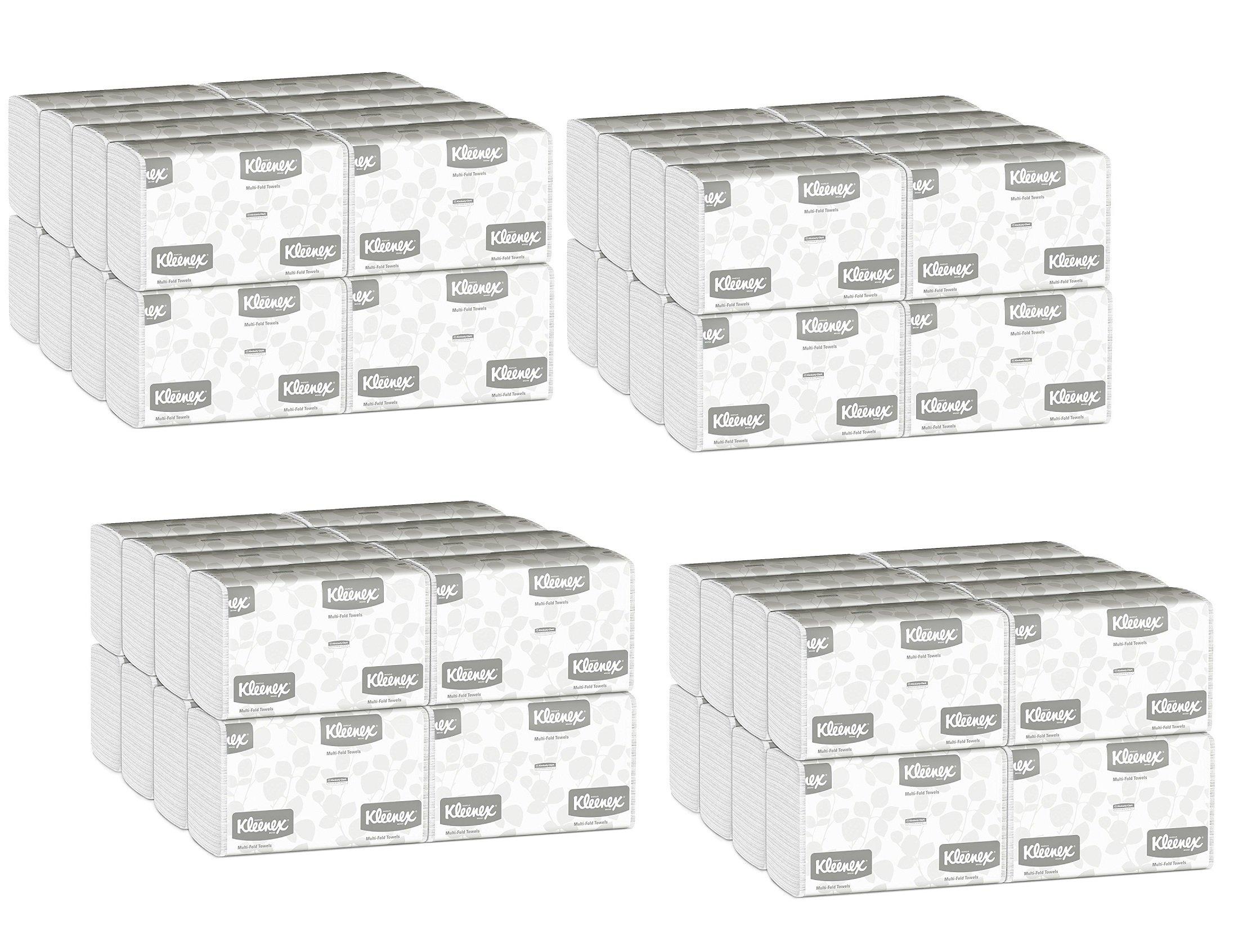 Kleenex Multifold Paper Towels (01890), White, Case of 64 Packs xpzjQa, 150 Tri Fold Paper Towels per Pack