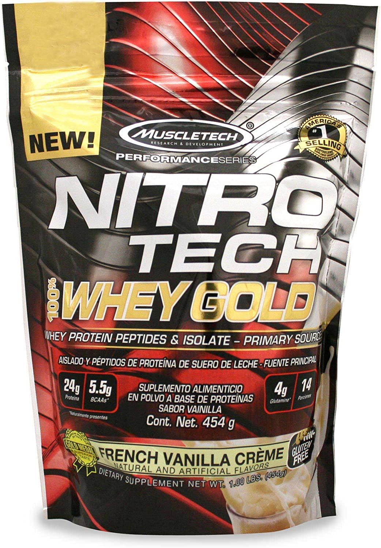 Muscletech Performance Series Nitro Tech 100% Whey Gold French Vanilla Crème - 462 gr