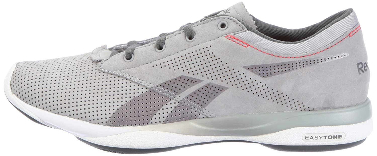 1bd0f3a1a487 Reebok Womens Easytone Pride Sports Shoes - Fitness Gray Grau (grey rived  grey white mazz red 91) Size  3.5 (36 EU)  Amazon.co.uk  Shoes   Bags