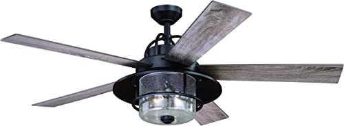 Charleston 56 In. Bronze Farmhouse Indoor-Outdoor Ceiling Fan