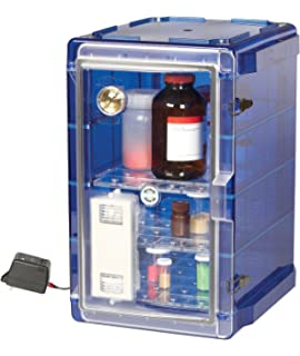 Bel-Art Secador Vertical Profile Blue 4.0 Auto-Desiccator Cabinet with Clear Door;