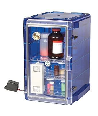 Bel Art Secador Vertical Profile Blue 4.0 Auto Desiccator Cabinet With  Clear Door;