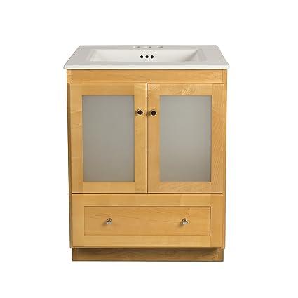 Amazoncom RONBOW Shaker Inch Bathroom Vanity Set In Maple Wood - Ronbow bathroom vanities