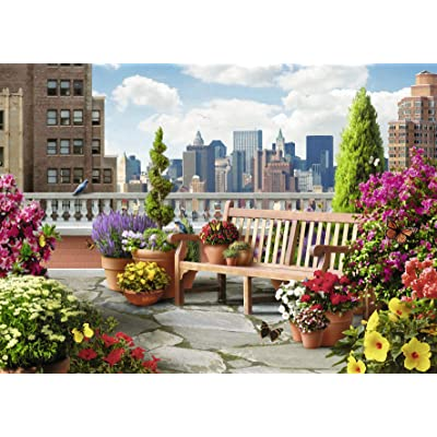 Ravensburger Rooftop Garden 500 Piece Large Format Jigsaw Puzzle for Adults – Every Piece is Unique, Softclick Technology Means Pieces Fit Together Perfectly: Varios: Toys & Games