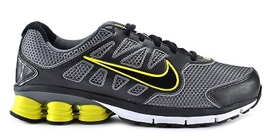 huge discount 9f538 b54d2 Nike Shox Qualify + 2 Men s Running Shoes Cool Grey Black White Yellow