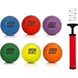 """High Bounce sets of 8.5"""" Playground Balls with Hand Pump and Needles"""