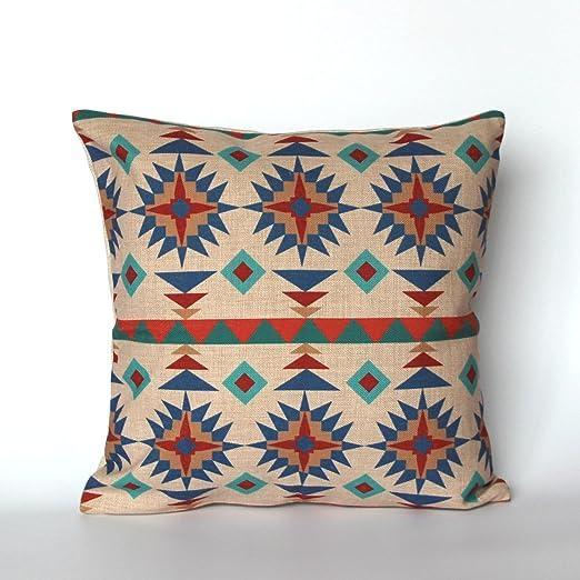 HomeDecorZone Funda de Almohada Decorativa geométrica étnica ...