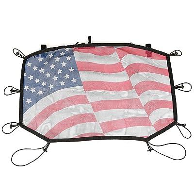 Rugged Ridge 13579.20 US Flag Hard Top Sun Shade for 07-18 Jeep Wrangler JK & JKU: Automotive