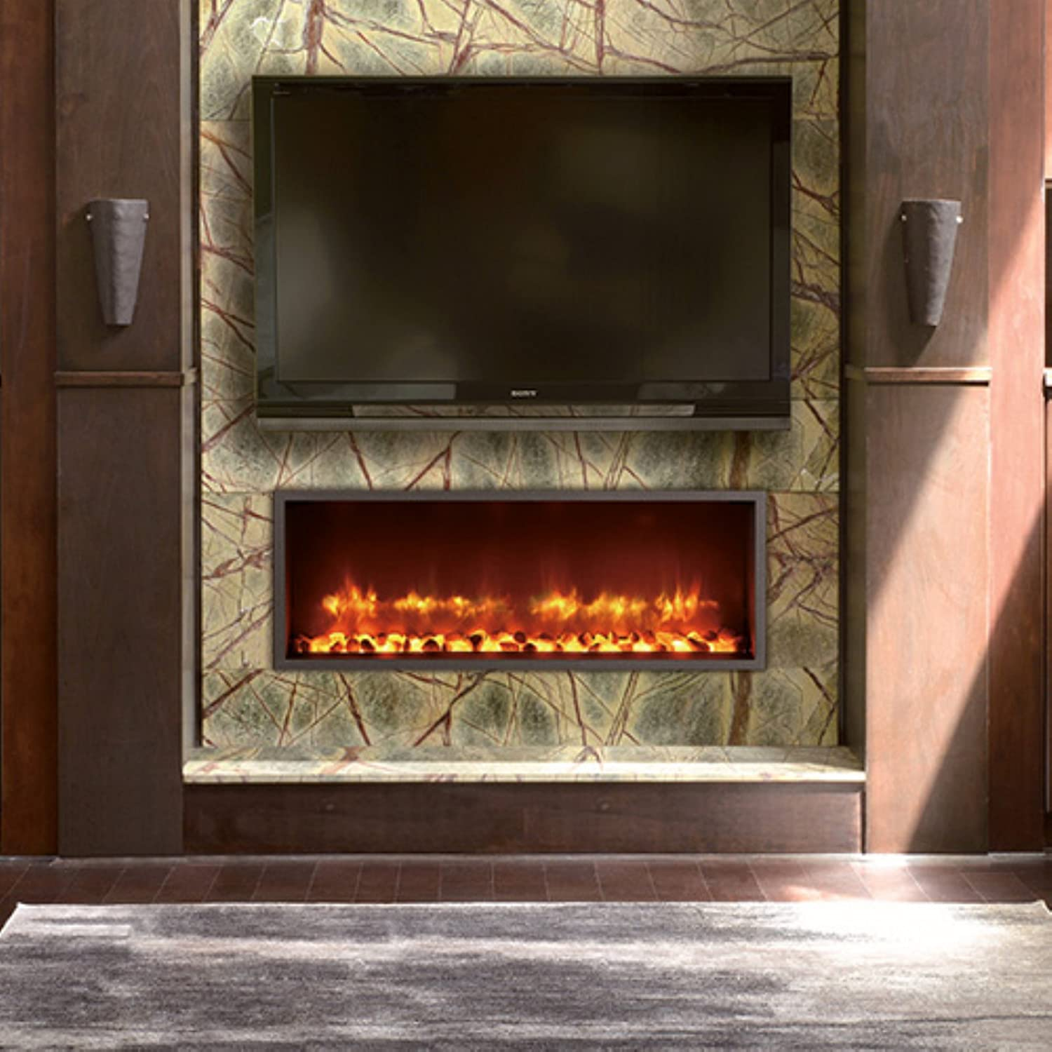 fireplaces glass catalog mount front crystal product new wall group ghp electric inc black fireplace muskoka curved