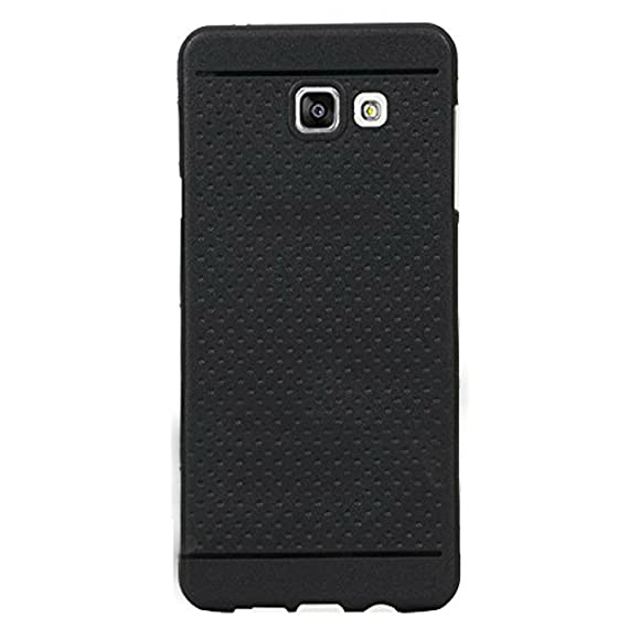 innovative design af105 d603e Johra For Samsung Galaxy A9 Pro Back Cover, Rubberised Soft Dotted Black  Back Cover For Samsung A9 Pro Back Cover