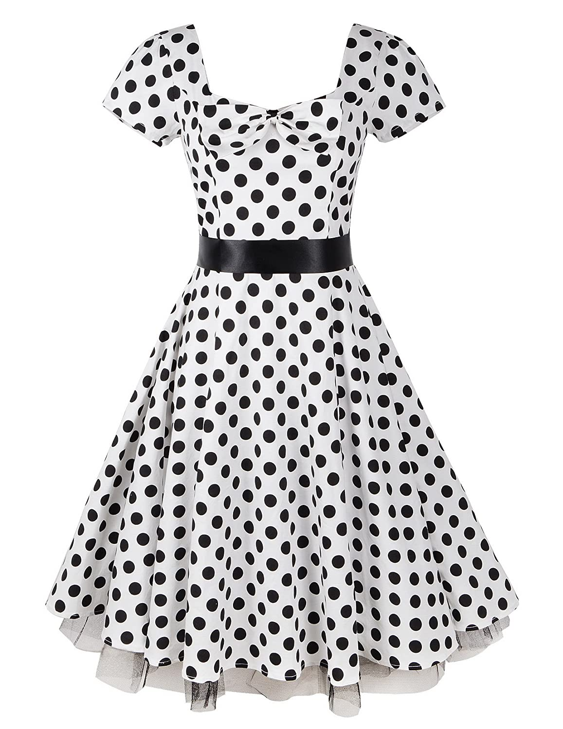 50s 60s Rockabilly Vintage Swing Party Prom Cocktail Dress