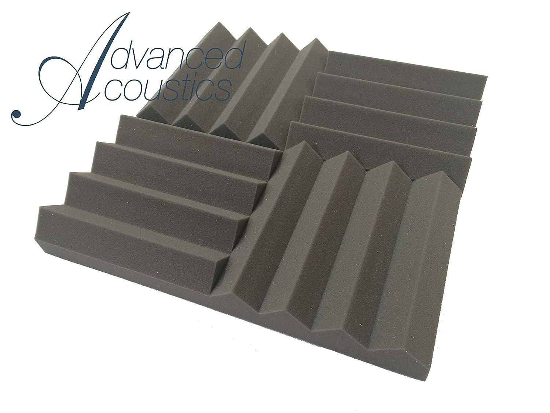 "Advanced Acoustics 12"" (305mm) Wedge PRO Acoustic Studio Foam 24 Tile Pack 0.95 NRC WEDPROI12"