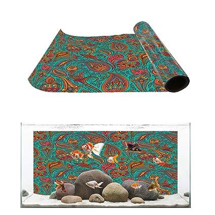 Amazon com : Aquarium Background Vivid Mandala Paisley