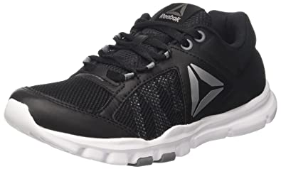 Reebok Yourflex Trainette 9.0 MT, Chaussures de Fitness Femme, Noir (Black/Guava Punch), 42.5 EU