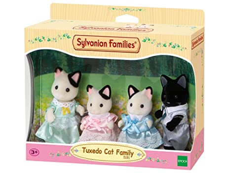 Sylvanian Families-5054131051818 Animales Familia Gatos Esmoquin Epoch para Imaginar 5181