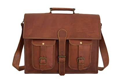 177312996576 Image Unavailable. Image not available for. Color  16x12 inch Vintage  Leather Briefcase Satchel Messenger Bag