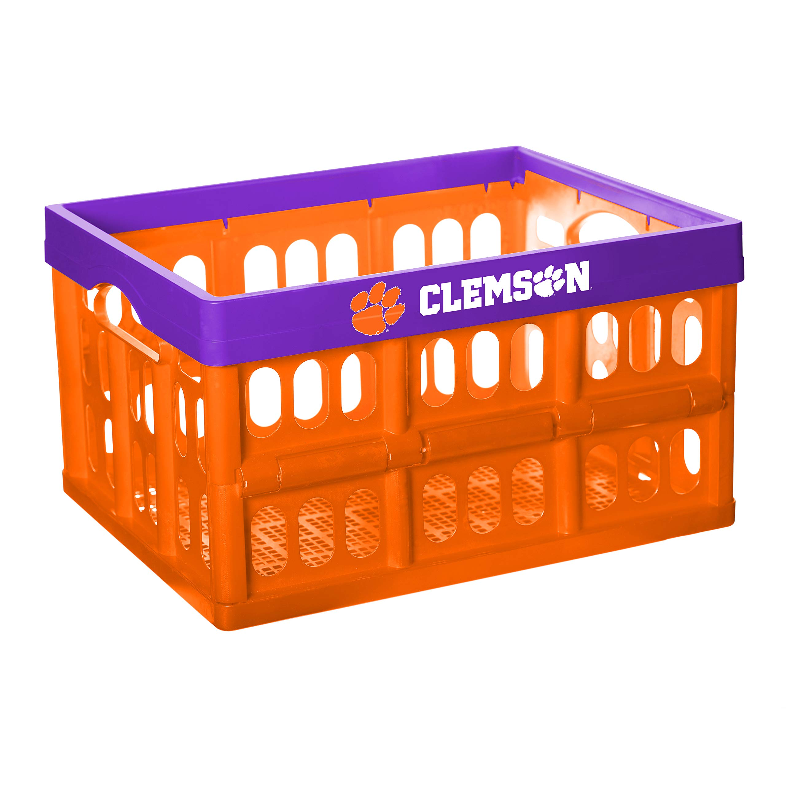 NCAA Fabrique Innovations Collapsible Crate, Clemson Tigers