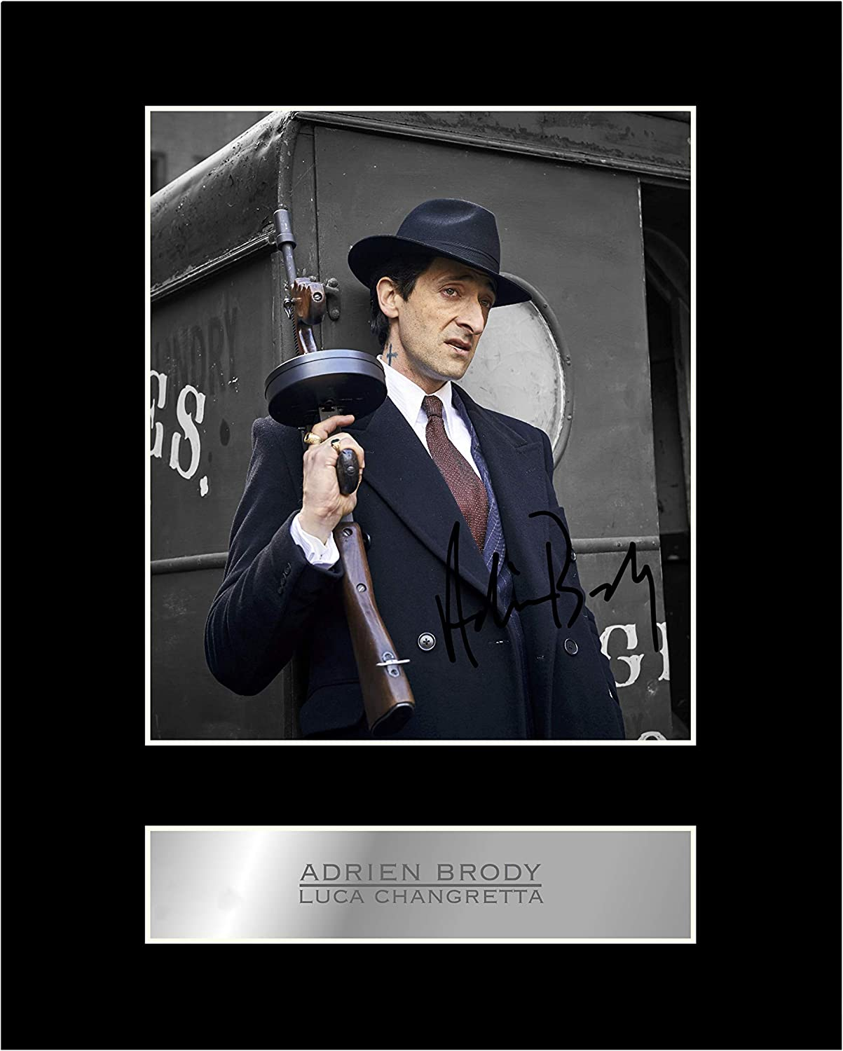 Adrien Brody Luca Changretta Signed Mounted Photo Display Peaky Blinders Autographed Gift Picture Print Amazon Co Uk Kitchen Home