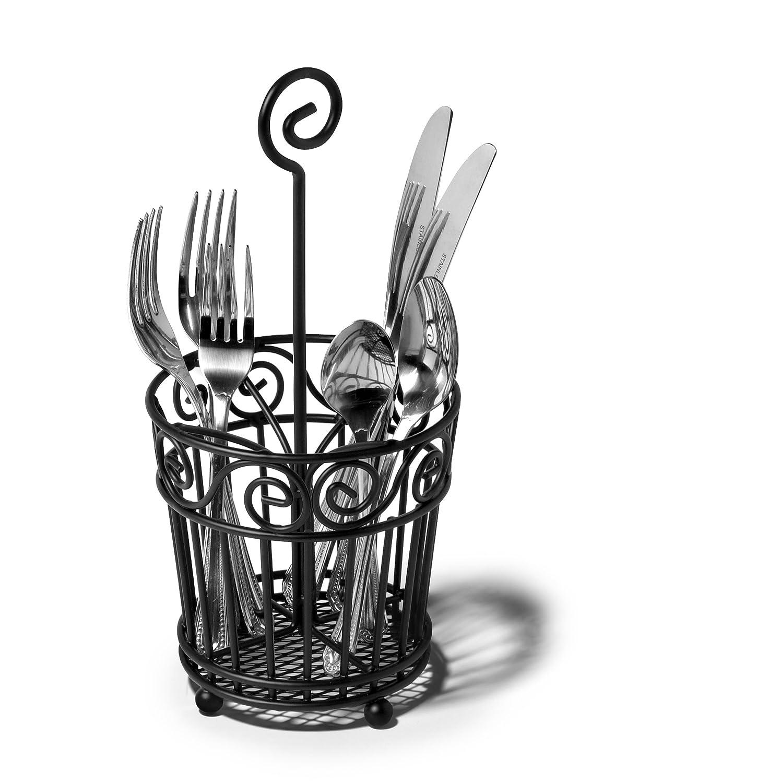 amazon com spectrum diversified scroll silverware caddy black