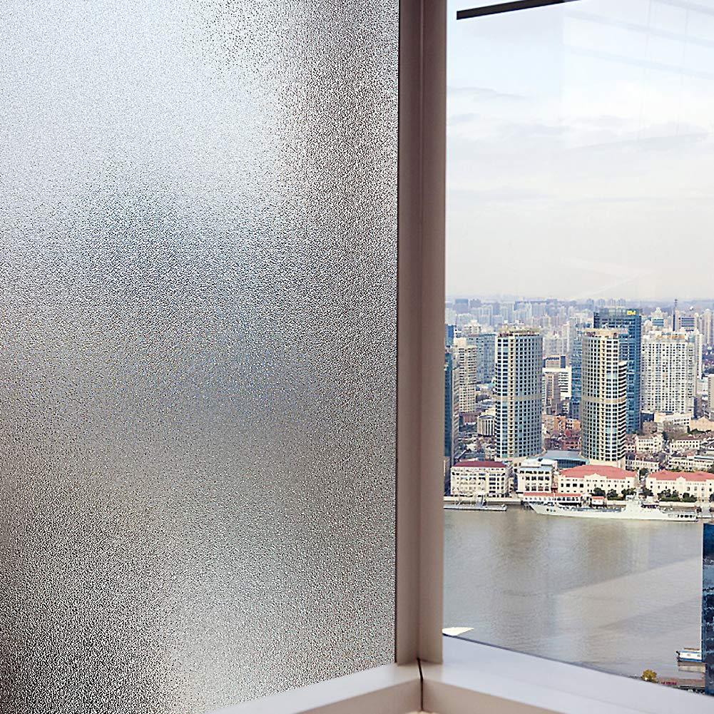 No glue Window films Frosted glass film for shower Decorative glass film For office Home-A 20x200cm 8x79inch ASDFGH Static cling Frosted glass film Privacy window film