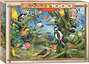 EuroGraphics Garden Birds by Joahn Francis 1000-Piece Puzzle