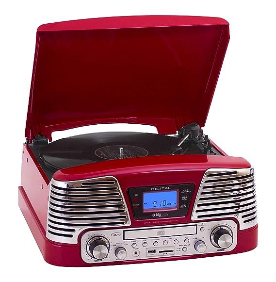 BigBen TD79 II - Tocadiscos para equipo de audio (LCD, USB, 3.5 mm ...