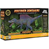 Spinosaurus Action Figure – Includes Real Dinosaur Bone Fossil!