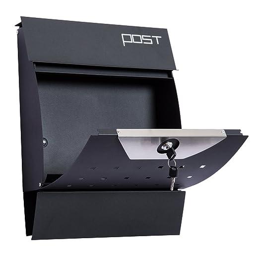 Briefkasten Edelstahl Wandbriefkasten Design Brief Kasten Mailbox Zeitungsfach ✅