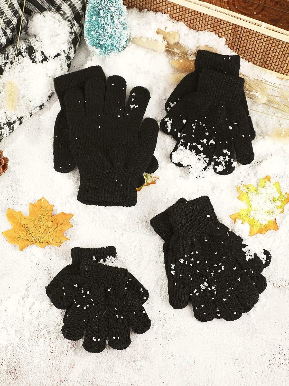 12 Paar Kinder Handschuhe Kinder Winter Handschuhe Strick Handschuhe f/ür Kinder Jungen M/ädchen Winter Verwenden