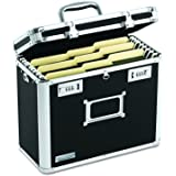 Vaultz VZ01187 Locking File Chest, Letter, 13 3/4 x 7 1/4 x 12 1/4, Black